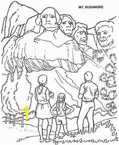 Mount Rushmore National Park Coloring Page Mount Rushmore National Park Kindergarten Activities Preschool Art