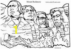 Mount Rushmore Coloring Page Mount Rushmore Coloring Pages Presidents Chart Quote Coloring