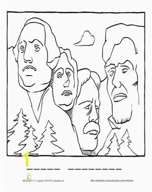 Mount Rushmore Coloring Page Mount Rushmore Coloring Page Coloring Patriotic