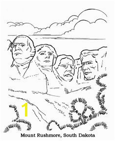 Mt Rushmore National Park Coloring Page Coloring Pages For Kids Coloring Sheets Printable