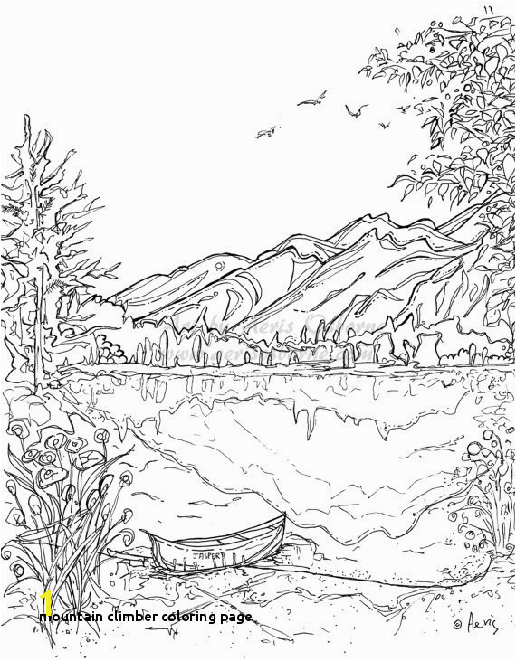 Mountain Climber Coloring Page Mountains Coloring Pages Best Coloring Pages for Kids