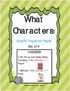 Pages Graphic Organizers for Mr Putter & Tabby Bake the Cake