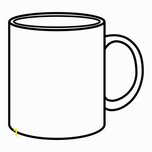 Mug Coloring Page Printable 1