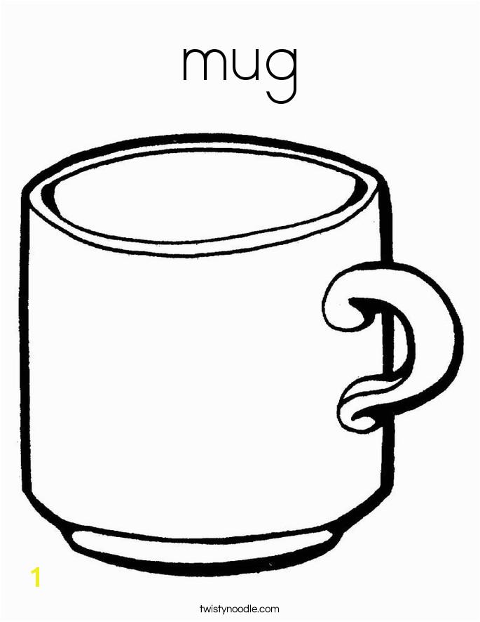 mug coloring page