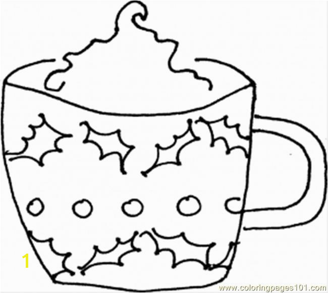 mug coloring sheet sketch templates