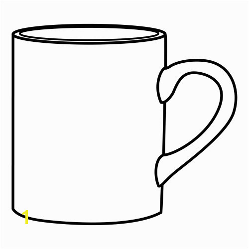 Mug Coloring Page Printable Mug Coloring Sheet Coloring Pages