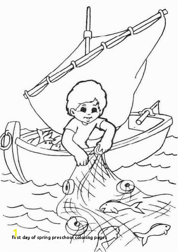 First Day Spring Preschool Coloring Pages Fisherman Coloring Pages for Your Kids Coloring Pages