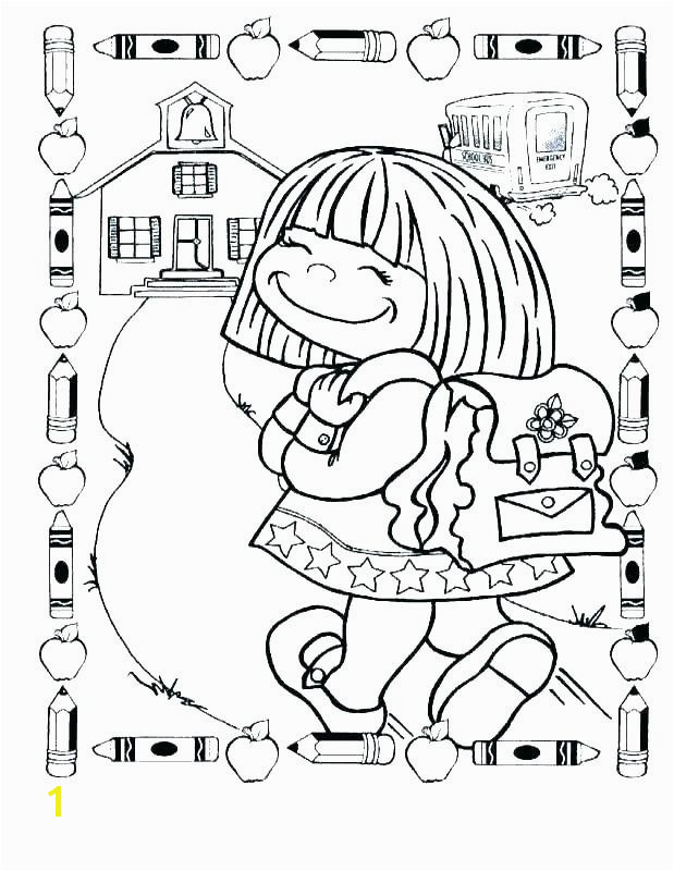 first day of school coloring pages kindergarten for colo