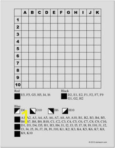 Grid Coloring Games I abcteach provides over 49 000 worksheets page 1 Math Games Math Activities