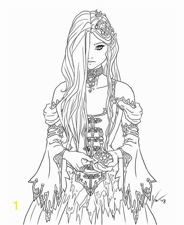 Mythical Coloring Pages for Adults Female Elf Coloring Pages