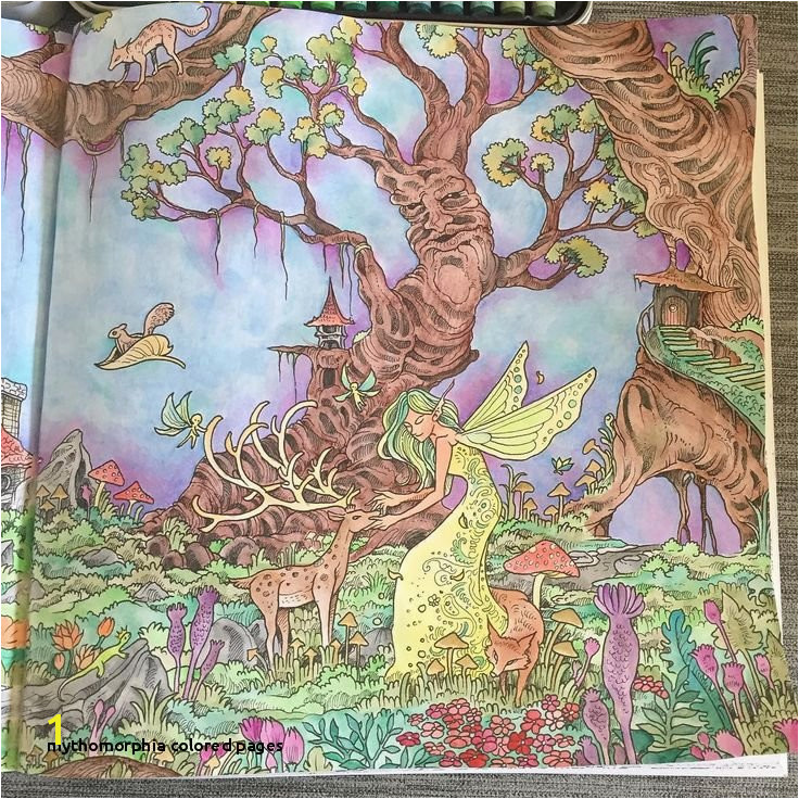 Mythomorphia Colored Pages 18awesome Mythomorphia Coloring Book Clip Arts & Coloring Pages