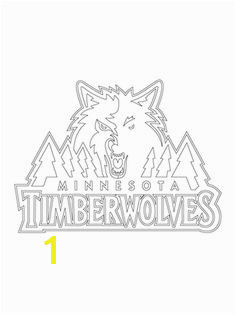 Minnesota timberwolves logo NBA coloring pages