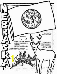 Nebraska State Symbol Coloring Page by Crayola Print or color online Page Usa