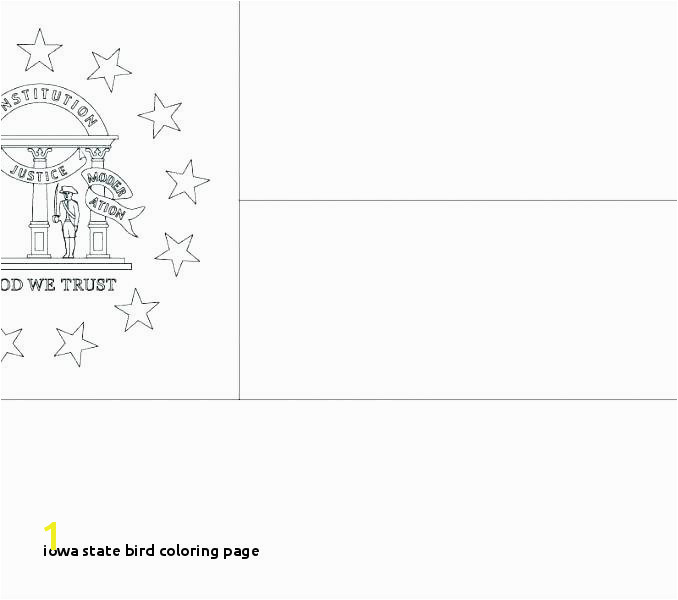 Iowa State Bird Coloring Page State Flag Coloring Page Georgia Pages for Kids Cars Drawing