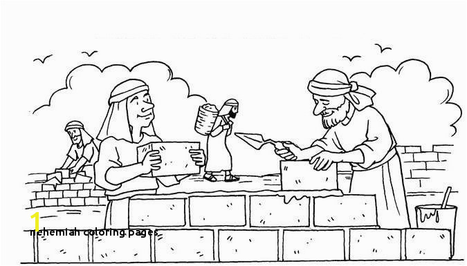 Nehemiah Builds the Wall Coloring Page Fresh Nehemiah Coloring Page