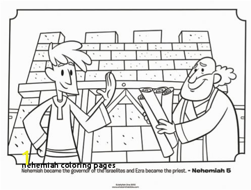 Ezra and Nehemiah Bible Coloring Pages