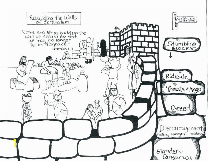 nehemiah coloring sheets builds the walls and tower of coloring pagenehemiah coloring sheets coloring page coloring