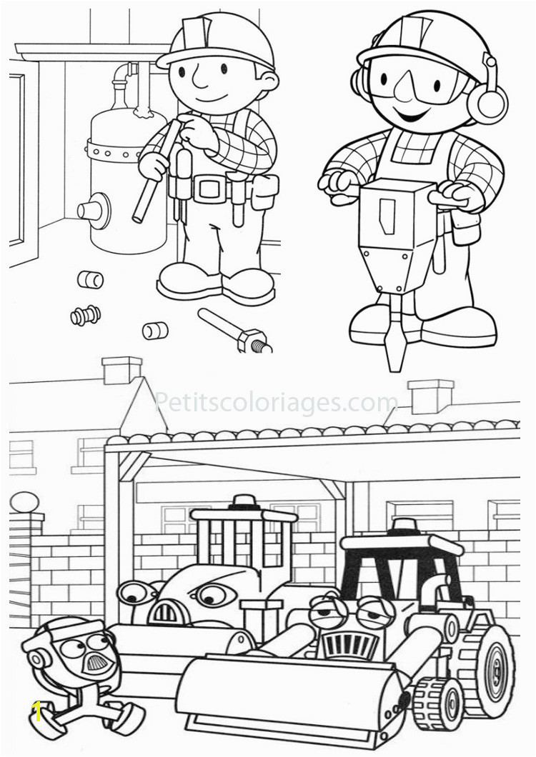 Bob The Builder coloring page to print and color
