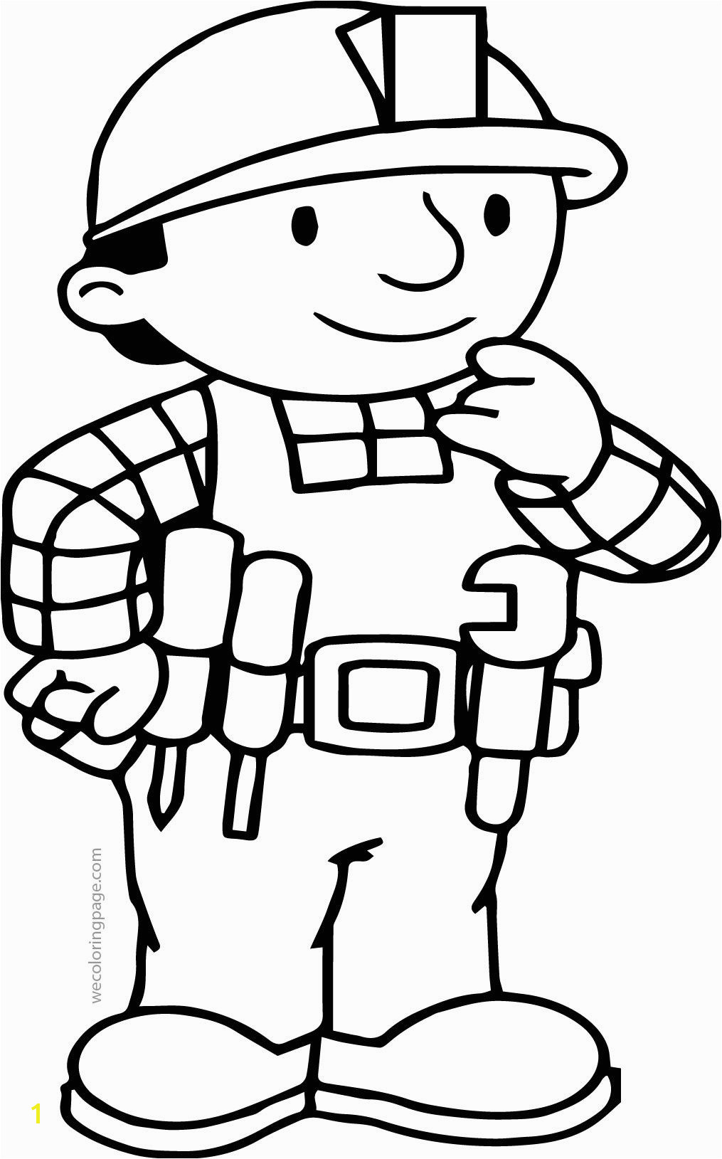 nice Bob The Builder Think Coloring Page