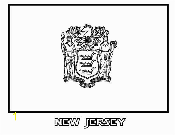 state flag of new jersey coloring page color luna
