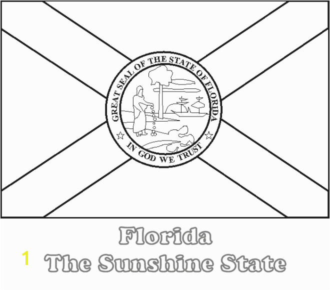 Printable Florida State Flag to Color from NETSTATE