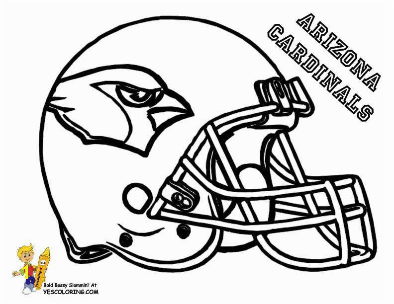 Beautiful Nfl Helmets Coloring Pages