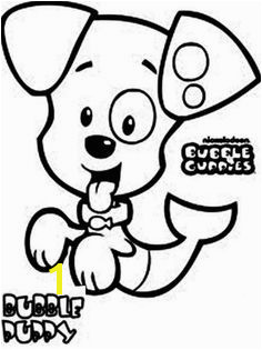 Bubble Puppy Character From Bubble Guppies Coloring Page