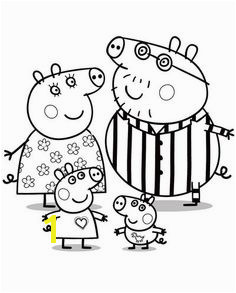 Peppa pig da colorare Peppa Pig con la sua famiglia Nick Jr Coloring Pages