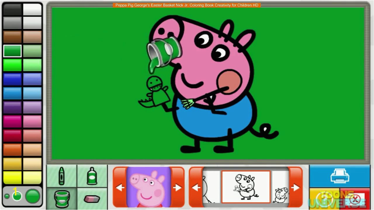 Peppa Pig George s Easter Basket Nick Jr Coloring Book Creativity for Children HD video dailymotion