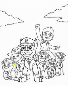 Free Nick Jr Paw Patrol printable coloring page for kids Coloriage Paw Patrol Paw