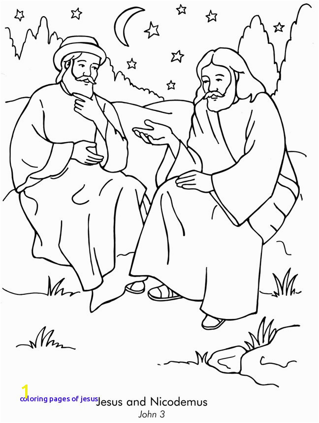 Day 3 Jesus and Nicodemus Coloring Sheets Can Be A Great Way to Coloring Pages