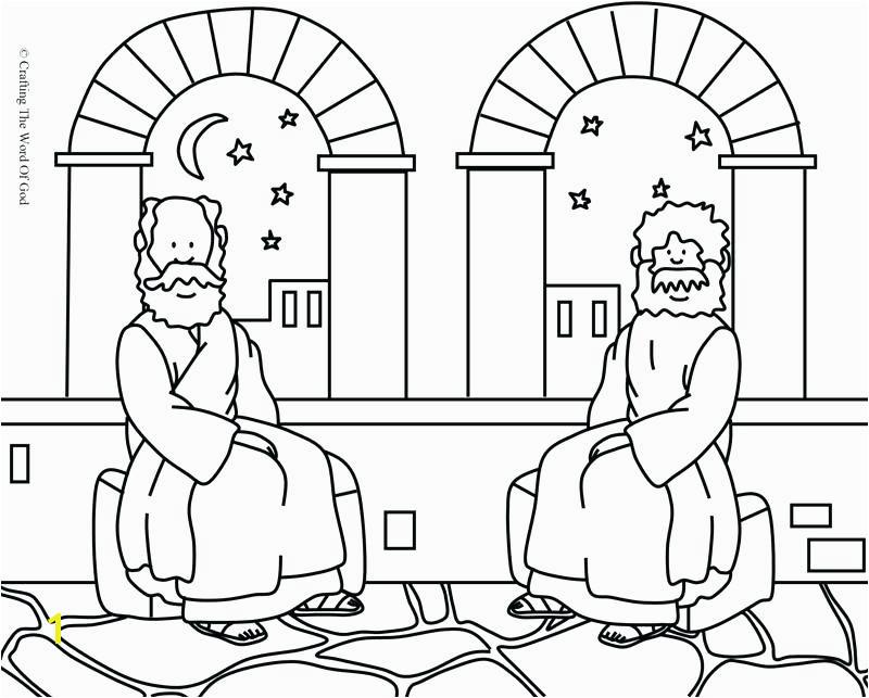 Nicodemus Coloring Page Nicodemus Meets Jesus Coloring Pages