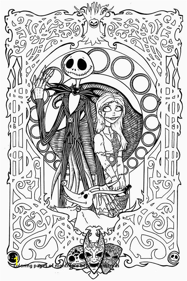 Coloring Pages Nightmare before Christmas Free Printable