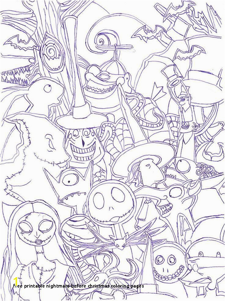 Nightmare before Christmas Coloring Pages Night before Christmas Related Post