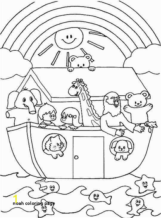 Noah S Ark and Rainbow Coloring Pages 20 Elegant Noahs Ark Coloring Page