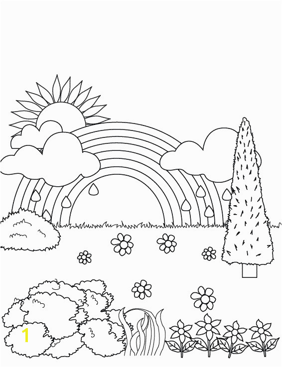 50 Rainbow Coloring Pages for toddlers