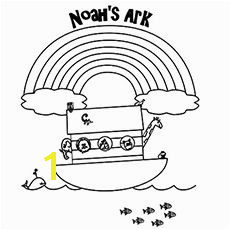 print coloring image Noah s Ark BibleSchool Coloring PagesBible