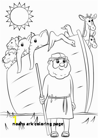Noahs Ark Coloring Page Preschool Printables Noah Ark Myscres