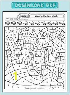 Get PDF Coloring For Kids Coloring Pages Numbers Preschool Preschool Worksheets Preschool