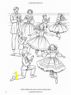 Nutcracker Ballet Coloring Book Dover Holiday Coloring Book Printable Adult Coloring PagesAdult