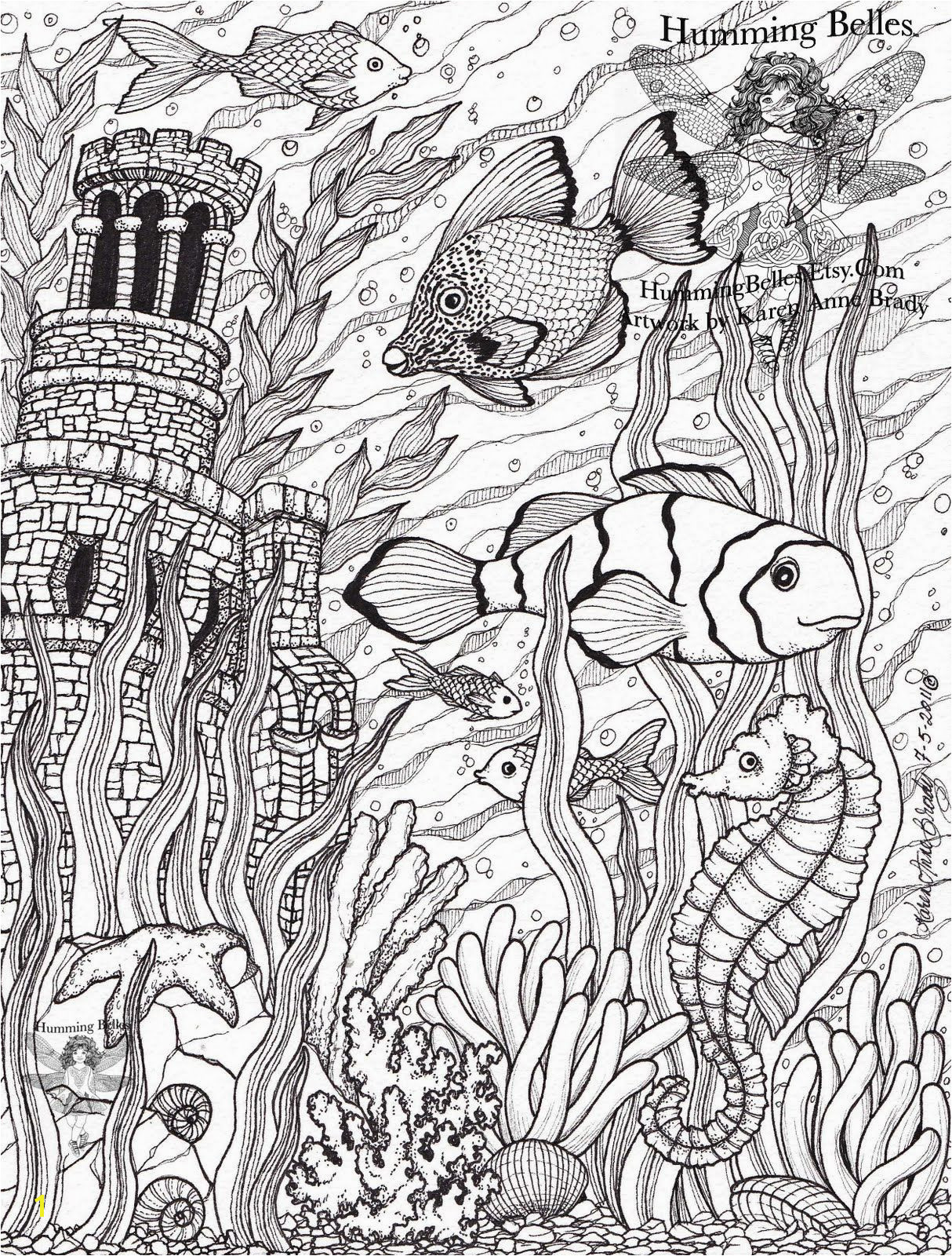 Ocean Scenes Coloring Pages Free Printable Adult Coloring Pages Color Pages