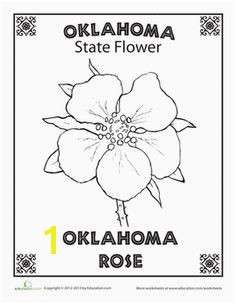 First Grade Nature Places Worksheets Oklahoma State Flower State Mottos State Map Coloring
