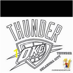 okc thunder coloring pages for J