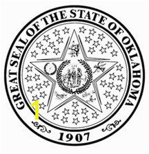 image of Oklahoma State Seal Coloring Page Coloring pages Brownie Badges Parent Night
