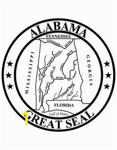 Alabama State Seal 4th Grade Social Stu s Social Stu s Classroom Printable Coloring Alabama