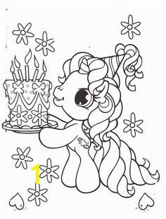 Little Pony Brought A Birthday Cake Coloring Pages My Little Pony car coloring… Unicorn
