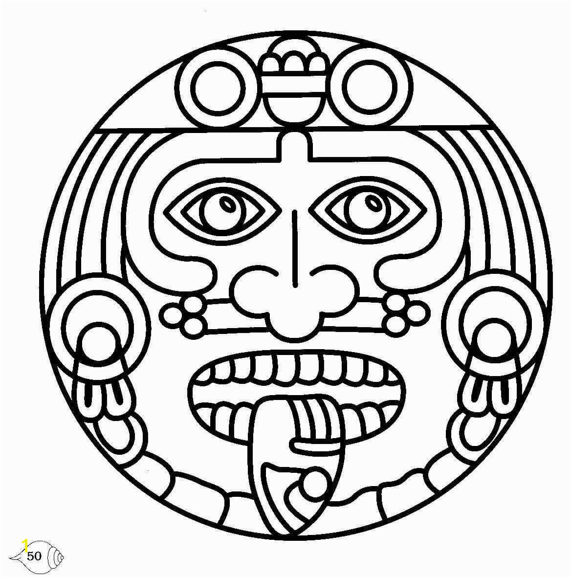 aztec coloring pages for kids