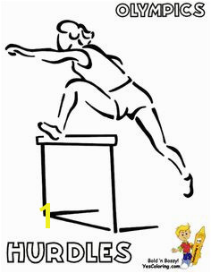 Coloring Pages Summer Olympics Female Hurdler at YesColoring coloring