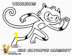 2016 Brazil Olympic Mascot Vinicius Coloring Page Summer Olympics Sports Brazil Olympics Olympic Sports