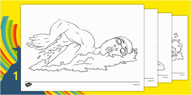 The Olympics Swimming Colouring Sheets Swimming Olympics Olympic Games sports Olympic